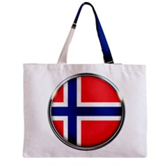 Norway Country Nation Blue Symbol Zipper Medium Tote Bag