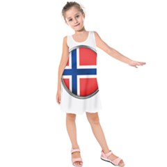 Norway Country Nation Blue Symbol Kids  Sleeveless Dress