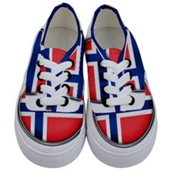 Norway Country Nation Blue Symbol Kids  Classic Low Top Sneakers