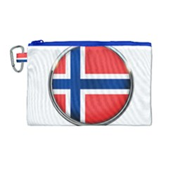 Norway Country Nation Blue Symbol Canvas Cosmetic Bag (large) by Nexatart