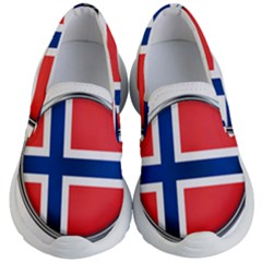 Norway Country Nation Blue Symbol Kid s Lightweight Slip Ons