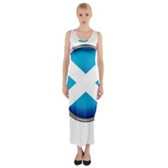Scotland Nation Country Nationality Fitted Maxi Dress