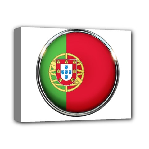 Portugal Flag Country Nation Deluxe Canvas 14  X 11
