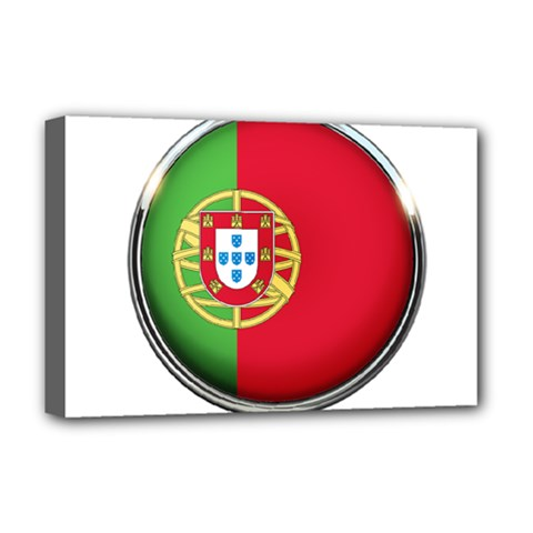 Portugal Flag Country Nation Deluxe Canvas 18  X 12
