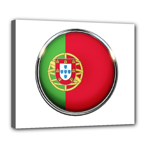 Portugal Flag Country Nation Deluxe Canvas 24  X 20