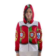Portugal Flag Country Nation Hooded Wind Breaker (women)