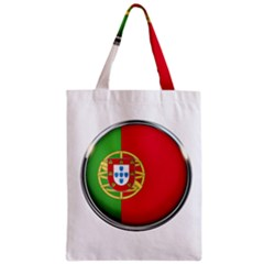 Portugal Flag Country Nation Zipper Classic Tote Bag