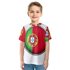 Portugal Flag Country Nation Kids  Sport Mesh Tee