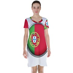 Portugal Flag Country Nation Short Sleeve Nightdress