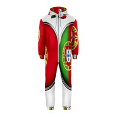 Portugal Flag Country Nation Hooded Jumpsuit (kids)