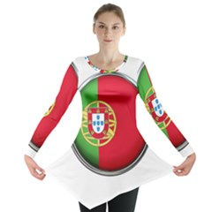 Portugal Flag Country Nation Long Sleeve Tunic