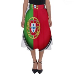 Portugal Flag Country Nation Perfect Length Midi Skirt
