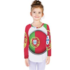 Portugal Flag Country Nation Kids  Long Sleeve Tee