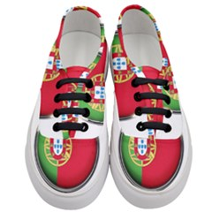 Portugal Flag Country Nation Women s Classic Low Top Sneakers
