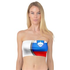 Slovenia Flag Mountains Country Bandeau Top