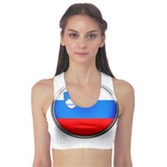 Slovenia Flag Mountains Country Sports Bra