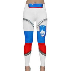 Slovenia Flag Mountains Country Classic Yoga Leggings