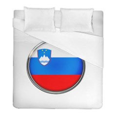 Slovenia Flag Mountains Country Duvet Cover (full/ Double Size)