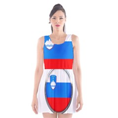 Slovenia Flag Mountains Country Scoop Neck Skater Dress