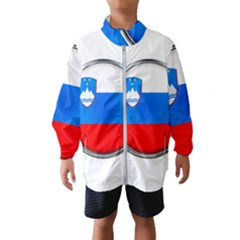 Slovenia Flag Mountains Country Wind Breaker (kids)