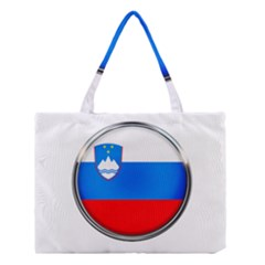 Slovenia Flag Mountains Country Medium Tote Bag