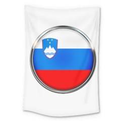 Slovenia Flag Mountains Country Large Tapestry