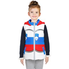 Slovenia Flag Mountains Country Kid s Puffer Vest