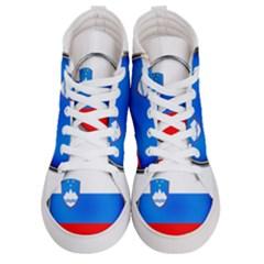 Slovenia Flag Mountains Country Women s Hi Top Skate Sneakers