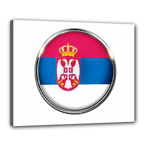 Serbia Flag Icon Europe National Canvas 20  X 16