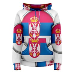 Serbia Flag Icon Europe National Women s Pullover Hoodie