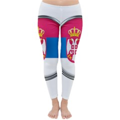 Serbia Flag Icon Europe National Classic Winter Leggings