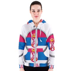 Serbia Flag Icon Europe National Women s Zipper Hoodie