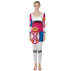 Serbia Flag Icon Europe National Long Sleeve Catsuit