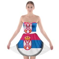 Serbia Flag Icon Europe National Strapless Bra Top Dress