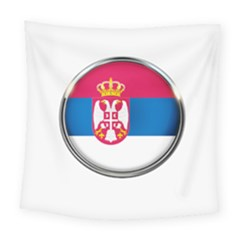 Serbia Flag Icon Europe National Square Tapestry (large)