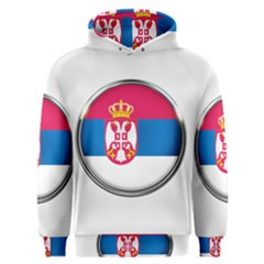 Serbia Flag Icon Europe National Men s Overhead Hoodie