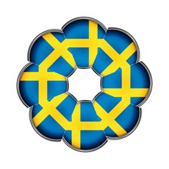 Sweden Flag Country Countries Hook Handle Umbrellas (small)