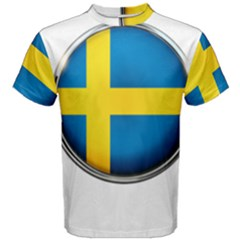 Sweden Flag Country Countries Men s Cotton Tee