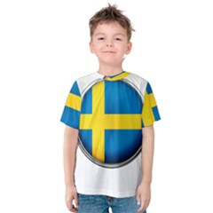 Sweden Flag Country Countries Kids  Cotton Tee