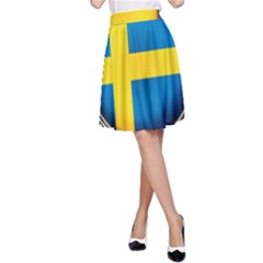 Sweden Flag Country Countries A Line Skirt by Nexatart