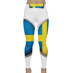 Sweden Flag Country Countries Classic Yoga Leggings