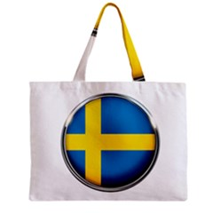Sweden Flag Country Countries Zipper Mini Tote Bag