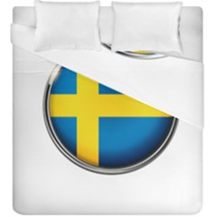 Sweden Flag Country Countries Duvet Cover Double Side (king Size)