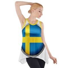 Sweden Flag Country Countries Side Drop Tank Tunic