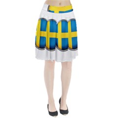 Sweden Flag Country Countries Pleated Skirt