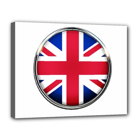 United Kingdom Country Nation Flag Canvas 14  X 11