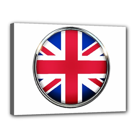 United Kingdom Country Nation Flag Canvas 16  X 12