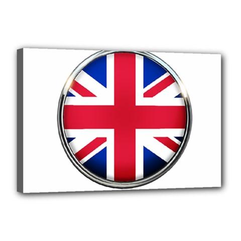 United Kingdom Country Nation Flag Canvas 18  X 12