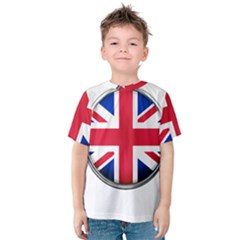 United Kingdom Country Nation Flag Kids  Cotton Tee