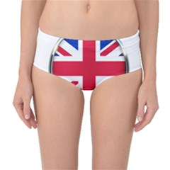 United Kingdom Country Nation Flag Mid Waist Bikini Bottoms